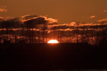 Sunset with sun almost gone by ChristophMaier