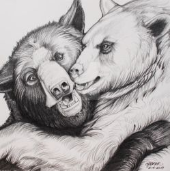Hugs and Kisses Bears by HouseofChabrier