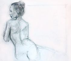 Torsion Life Drawing by Gizmoatwork
