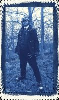 Steampunk Blue Lantern 12 Cyanotype by Windthin