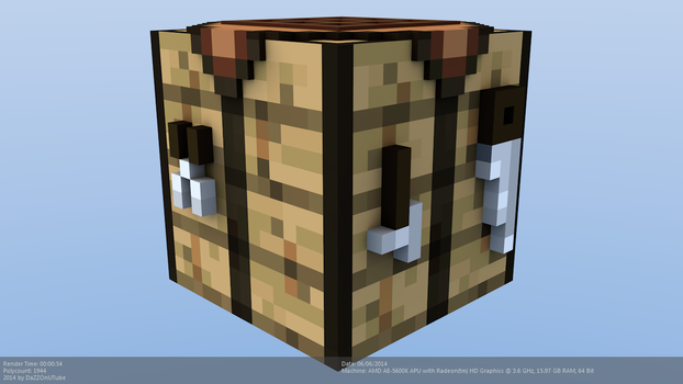 Minecraft Crafting Table Model by CraftDAnimation