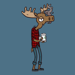 Hipster Moose by blueToaster