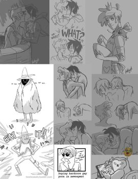 Tumblr Sketch Dump 4 by Hootsweets