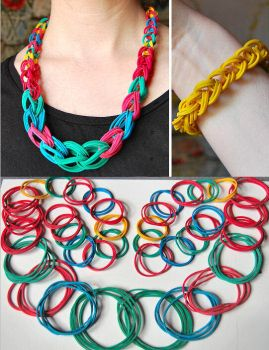 Rubber Band Necklace by Madizzo