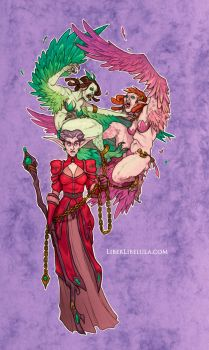 Disney meets Warcraft - Tremaine and Daughters by LiberLibelula