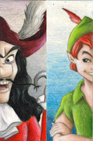 Peter Pan bookmark by snow-white-kt