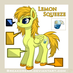 Reference Sheet OC Lemon Squeeze by EL42