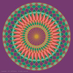 Festival Wheel Mandala by jeffdufour