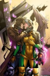 Gambit And Rogue by freaxel