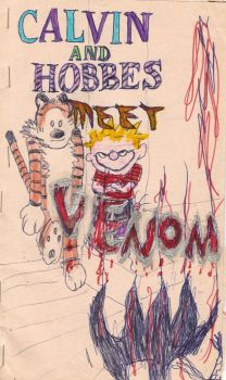 Calvin and Hobbes meet Venom cover by gollum42