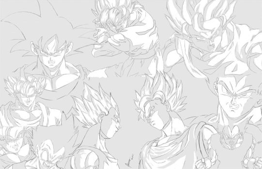 goku and vegeta by Acceo
