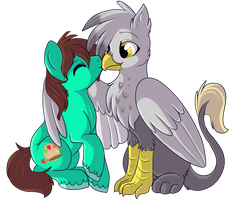 Beak Smooch by lulubellct