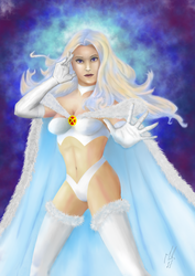 Emma Frost Signed by blood083