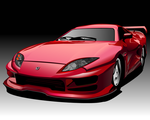 Midnight Club 2 Red Car by daul