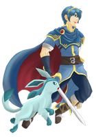Marth and Glaceon by Marth-the-Fabulous