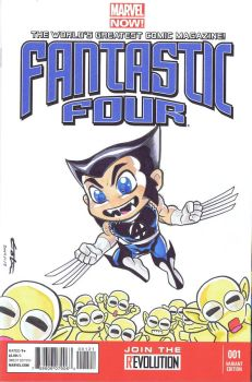Super Deformed Fantastic Four Wolverine by Pencilero