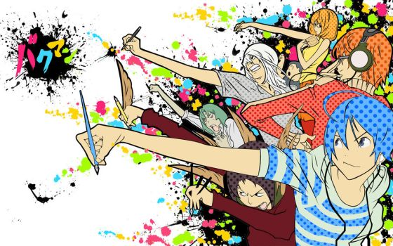 Bakuman Splatter Wallpaper by Kookookchoo