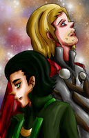 Thor and Loki by khiro