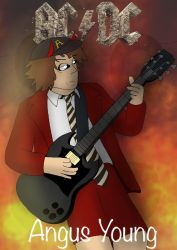 Just another Angus Young pic by ZachMFKAttack