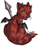 Demon kitty by Crysums