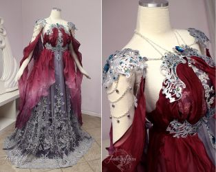 Elegant Armor Gown by Firefly-Path
