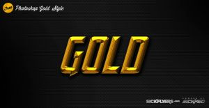 Free GOLD Photoshop Layer Style by Industrykidz