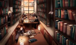 Library love by Lumedin