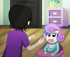 Flurry Heart n Baby sitter by sumin6301