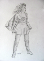 Supergirl Portrait by HyperSpaceOddity