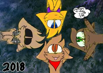 HAPPY LATE 2018 GUYS!! by AskTheEddWorldCats
