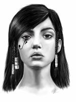 Pharah Overwatch Portrait by LaraWegenaerArts
