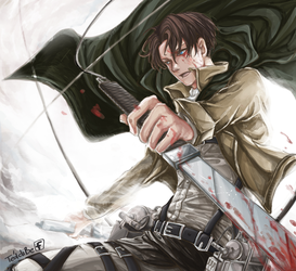 Levi Ackerman by teddibe