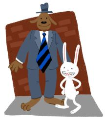 Sam and Max doodle by Karwei