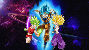 Goku Blue And The Female Saiyans Universe 6 by WindyEchoes