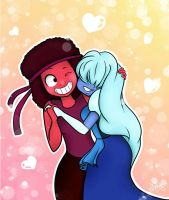 Ruby and Sapphire by Mely14Arts