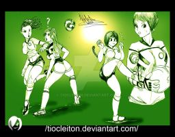 scrap futbal girls by tiocleiton