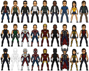 deviantART Avengers by MicroTraceour