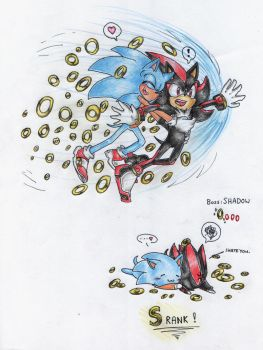 SG - Rival: Shadow. Sonadow spoof by BlueNeedle-Inu
