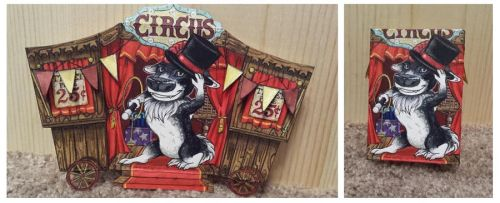 ACEO - Circus Act by Sessko