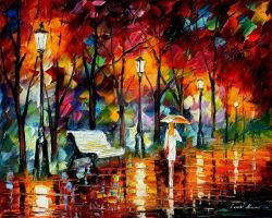 Rainy Emotions by Leonid Afremov by Leonidafremov