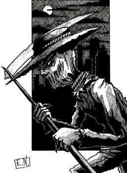 The Scarecrow (Inktober) by Nordtoemme