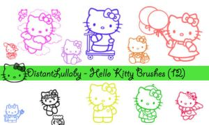 Hello Kitty Brushes by DistantLullaby