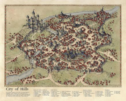City of Hills 2015: Challenge Map by Traditionalmaps