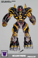 HEADSTRONG TRANSFORMERS BATTLE MACHINE by GUILLERMOTFMASTER