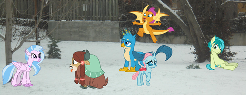 Young Six In the Snow by Eli-J-Brony