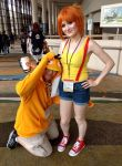 Megacon 2018 Misty and Psyduck by kingofthedededes73