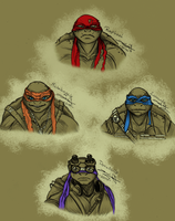 Ninja Turtles by Jivra
