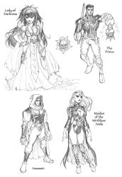 WhiteWolf Character Sketches by RyanKinnaird