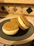 Homemade Double PB Icecream Cookie Sandwiches by Corselia