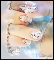 Bubble themed Nails by Ceryse